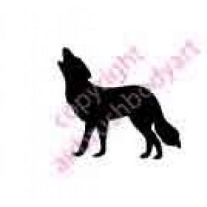 0289 wolf reusable stencil